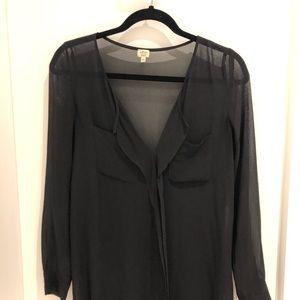 Wilfred Dress. Black. See through. Size XXS.